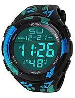 cheap -men's digital watch hessimy men's sports watch led screen large face military watches and waterproof casual luminous electronics watch back light outdoor simple army wrist watch
