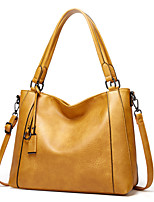 cheap -Women's Bags PU Leather Top Handle Bag Bow(s) Zipper for Daily / Date Black / Yellow / Brown / Gray