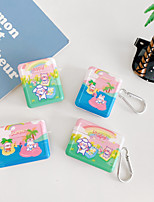 cheap -Cartoons PC Cases For Apple Airpods1 Airpods2 Airpods pro Hard shell Case Cover Charging Box Shell For AirPods1&2 Airpods pro Pro tective Cover(Does not include headset charging box)