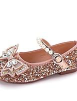 cheap -Girls' Flats Flower Girl Shoes PU Big Kids(7years +) Walking Shoes Rhinestone Black / Pink / Beige Fall