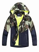 cheap -boys rain jackets lightweight waterproof hooded coats windbreakers for kids green 7/8