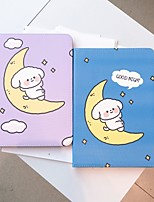 cheap -Case For Apple iPad  air1 air2 pro 9.7inch 2017 2018 with Stand Flip Full Body Cases PU Leather TPU Protective Stand Cover Pattern  cute lovely word phrase animal puppy moon cloud stars