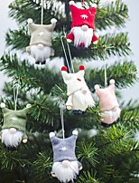 cheap -Christmas Decoration 2 Pieces Doll Pendant Tree Hanging Ornaments Christmas Crafts Decorations