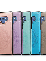 cheap -Case For Samsung Galaxy Galaxy Note8 Note9 Note10 Note10plus Embossed Back Cover Solid Colored PU Leather TPU