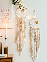 cheap -Macrame Wall Gift Hanging Bohemian Handmade Woven Art Decor Home Living Room Dorm Decoration Dreamcatcher creative moon pendant home wall hanging