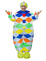 cheap -Clown Cosplay Costume Inflatable Costume Funny Costume Adults' Men's Cosplay Halloween Halloween Festival / Holiday Fabric Green Men's Women's Easy Carnival Costumes