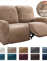 cheap -1 Set of 6 Pieces Easy-Going Microfiber Stretch Sectional Recliner Sofa Slipcover, High Elastic High Quality Velvet Sofa Cover Sofa Slipcover for 2 Seats Cushion Recliner Sofa Furniture Protector