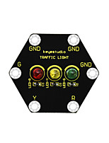 cheap -Keyestudio Micro bit Honeycomb Traffic Light Module(Black and Eco-friendly)