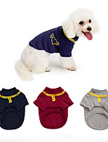 cheap -Dog Coat Sweater Heart Casual / Daily Cute Casual / Daily Winter Dog Clothes Warm Red Blue Gray Costume Cotton S M L XL XXL XXXL