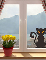 cheap -Halloween Party Halloween Decor Horror Ghost Halloween Cat Wall Stickers Decorative Wall Stickers, PVC Home Decoration Wall Decal Wall Decoration / Removable