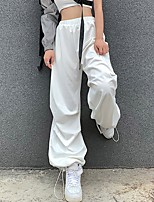 cheap -Women's Sporty Basic Daily Going out Jogger Chinos Pants Solid Colored Comfort White S M L