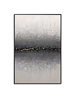 cheap -100% Hand painted Abstract Black White Poster Art Cuadros Home Decor Wall pictures For living room bedroom Grey Canvas Paintings Rolled Without Frame