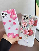 cheap -Case For Apple iPhone 5 5C 5S SE 6 6s 7 8 6plus 6splus 7plus 8plus X XR XS XSMax SE(2020) iPhone 11 11Pro 11ProMax Ultra-thin Transparent Pattern Back Cover Animal Flower TPU