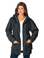 cheap -women's plus size hooded jacket with fleece lining - 3x, merlot