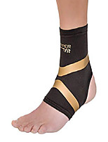 cheap -cfproak pro series performance compression ankle sleeve, black with copper trim, large