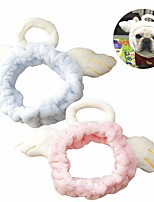 cheap -Dog Cat Halloween Costumes Bandanas & Hats Angel & Devil Casual / Sporty Cute Christmas Party Dog Clothes Warm Blue Pink Beige Costume Plush