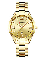 cheap -CURREN Women's Quartz Watches Quartz Formal Style Modern Style Casual Water Resistant / Waterproof Stainless Steel Silver / Gold / Rose Gold Analog - Rose Gold White+Gold White+Coffee One Year