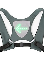 cheap -led flashing vest and cycling stop light - double visible front and rear jacket - cordless and rechargeable - ideal for bikes and electric scooters - adaptable to backpack & #40;green& #41;