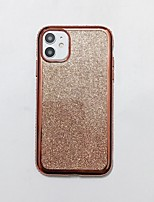 cheap -Case For iPhone 7 8 7 Plus 8 Plus X XS XR XS Max SE 11 11 Pro 11 Pro Max Rhinestone Back Cover Solid Colored TPU