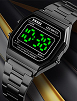 cheap -SKMEI Men's Sport Watch Digital Modern Style Stylish Casual Water Resistant / Waterproof Digital Black Gold Silver / One Year / Stainless Steel / Calendar / date / day / Shock Resistant / Noctilucent