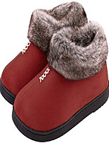 cheap -women's cozy memory foam slippers fluffy micro suede faux fur fleece lined house shoes with non skid indoor outdoor sole (x-large / 10 b(m) us, burgundy)