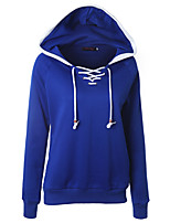 cheap -Women's Womens Hoodie Hoodies Pullover Hoody Blue Crossover Hoodie Cotton Color Block Cute Sport Athleisure Pullover Long Sleeve Warm Soft Comfortable Everyday Use Exercising General Use