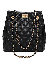 cheap -Women's Bags PU Leather Top Handle Bag Zipper Chain for Daily / Date White / Black / Blue