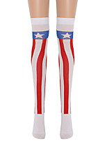 cheap -Witch Cosplay Costume Socks / Long Stockings Adults' Women's Cosplay Halloween Halloween Festival / Holiday Nylon Fiber Red Women's Easy Carnival Costumes