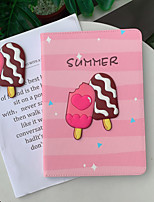 cheap -Case For Apple iPad Pro 11  Ipad Pro 11 inches 2020 with Stand Flip Full Body Cases PU Leather TPU Protective Stand Cover Pattern cute lovely ice cream summer