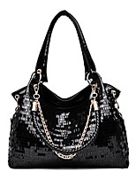 cheap -Women's Bags PU Leather Top Handle Bag Zipper for Daily / Date Black