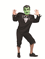cheap -Monster Cosplay Costume Outfits Adults' Men's Cosplay Halloween Halloween Festival / Holiday Polyester Black Men's Easy Carnival Costumes / Top / Pants / Mask / Top / Pants
