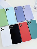 cheap -Case For APPLE  iPhone 7 8 7plus 8plus  XR XS XSMAX  X 11 11Pro   11ProMax Frosted Back Cover Solid Colored Silicone