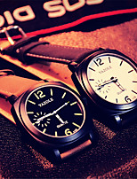 cheap -YAZOLE Men's Sport Watch Quartz Sporty Stylish Casual Shock Resistant Analog Black Black / Brown Brown / PU Leather