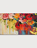 cheap -Hand Painted Canvas Oil Painting Abstract FlowersHome Decoration With Frame Painting Ready To Hang With Stretched Frame