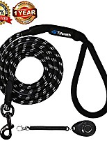 cheap -rope medium-large 6ft-4ft dog-leash - strong big heavy duty climbing rope leash with soft padded handle for medium to large dogs (4ft, black)