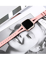 cheap -Watch Band for Fitbit Versa Fitbit Leather Loop Genuine Leather Wrist Strap