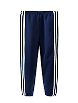 cheap -Kids Girls' Basic Striped Solid Colored Pants Blue