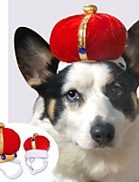 cheap -Dog Cat Bandanas & Hats Tiaras & Crowns Cute Cool Christmas Party Dog Clothes Breathable Red Costume Plush S L / Halloween