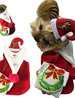 cheap -Dog Costume Dress Christmas Party Cute Christmas Party Winter Dog Clothes Breathable Red Costume Fabric XS S M L XL XXL