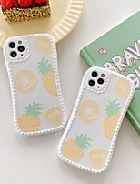 cheap -Case For Apple iPhone 7 8 plus SE 2020 X XS XR XS max  11 11 Pro 11 Pro Max Pattern Back Cover  Cartoon TPU cute LOVELY  pineapple