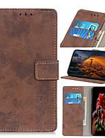 cheap -Case For Alcatel Alcatel 1 / Alcatel 1S 2019 / Alcatel 3L Flip / Magnetic Full Body Cases Solid Colored PU Leather