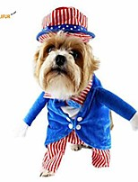 cheap -uncle sam dog costume with hat patriotic pet costume