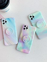 cheap -Case For Apple iPhone 7 7P iPhone 8 8P iPhone X iPhone XS XR XS max iPhone 11 11 Pro 11 Pro Max iPhoneSE (2020) with Stand Pattern Back Cover Color Gradient Marble TPU