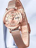 cheap -Women's Quartz Watches Quartz Modern Style Stylish Outdoor Water Resistant / Waterproof Analog Rose Gold Golden+Black Golden+White / Stainless Steel
