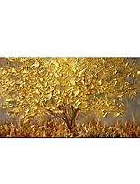 cheap -100% Hand painted Large Modern Canvas Art Oil Painting Knife Golden Tree Paintings For Home Living Room Hotel Decor Wall Art Picture Rolled Without Frame
