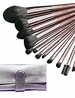 cheap -make up brushes  24pcs synthetic cosmetics makeup brush set with case full face makeup kits for foundation blending blush concealer eye shadow, cruelty-free synthetic fiber bristles &