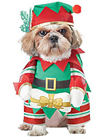 cheap -california costumes elf pup dog costumes, pet, green/red, extra small
