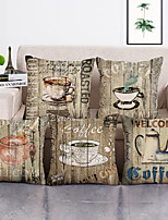 cheap -Set Of 5 Pillow Cover Decorative Printed Cushion Covers 45*45 Pillowcase Sofa Cushions Polyester Pillows Covers