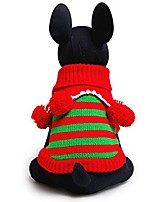 cheap -dog ugly winter sweater pet christmas snowman sweaters dog cat holiday clothes with christmas balls & # 40; l& #41;