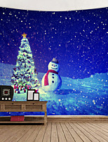 cheap -Christmas Weihnachten Santa Claus Wall Tapestry Art Decor Blanket Curtain Picnic Tablecloth Hanging Home Bedroom Living Room Dorm Decoration Snowman Christmas Tree Gift Star Polyester